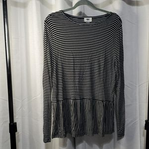 Old navy striped peplum top